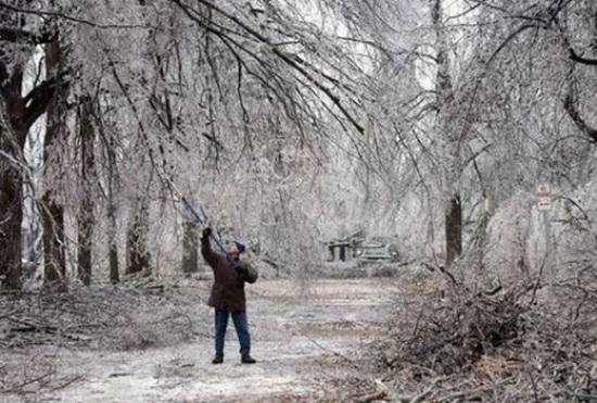 Зимний шторм и суровая зима в Одессе